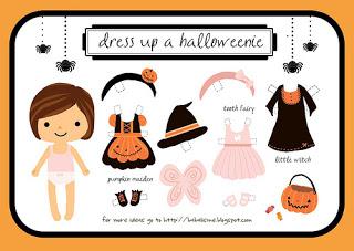 girl halloween paper doll