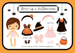 girl halloween paper doll