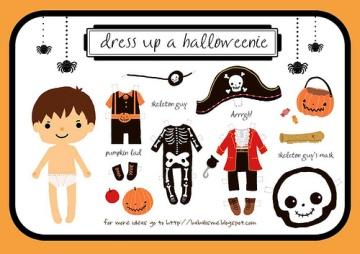 halloween boy paper doll