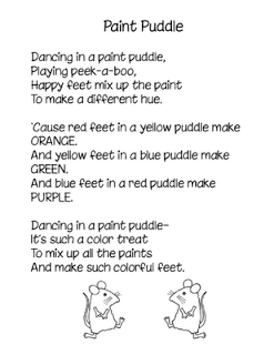 Paint Puddle poem