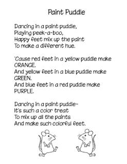 Paint Puddle poem